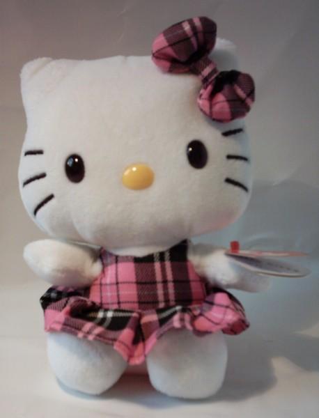 Plüsch Hello Kitty Schottenrock, ca. 15 cm