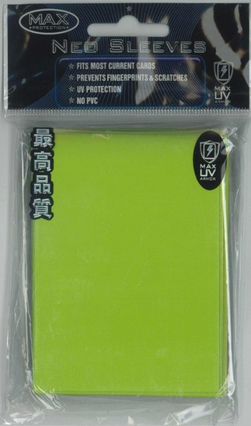 "Deck Protector Sleeves uni-""Lime Green"" MAX, Standard"