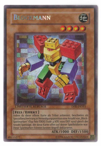 Blockmann, DPK-DESE1, Yu-Gi-Oh! Einzelkarte