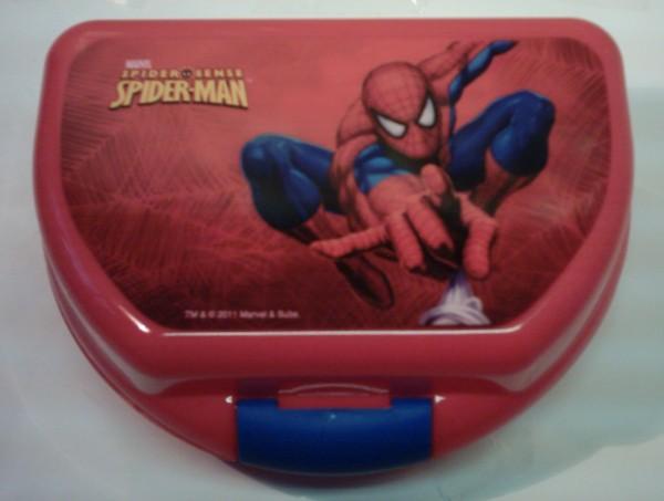 Spider-Man Brotdose rot