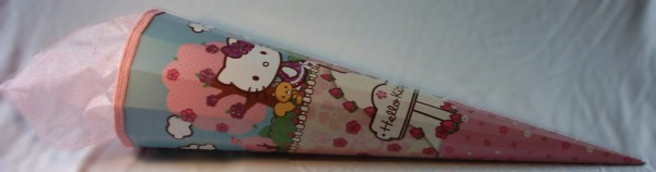 Hello Kitty Zuckertüte/ Schultüte groß, 85cm, 12-eckig