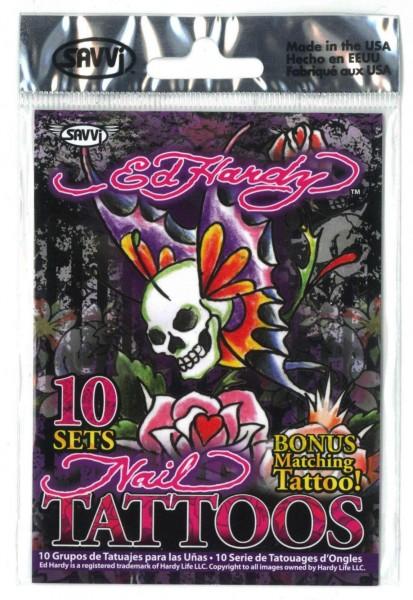 Ed Hardy Nail Tattoos, 10 Sets