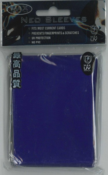 "Deck Protector Sleeves uni-""Flat Blue"" MAX, Standard"