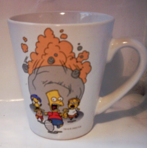 Simpsons Tasse Bart rennt