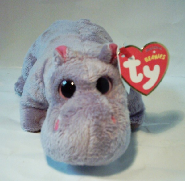 "Plüschtier Beanie Nilpferd, ""The Beanie Babies Collection"", 15cm"