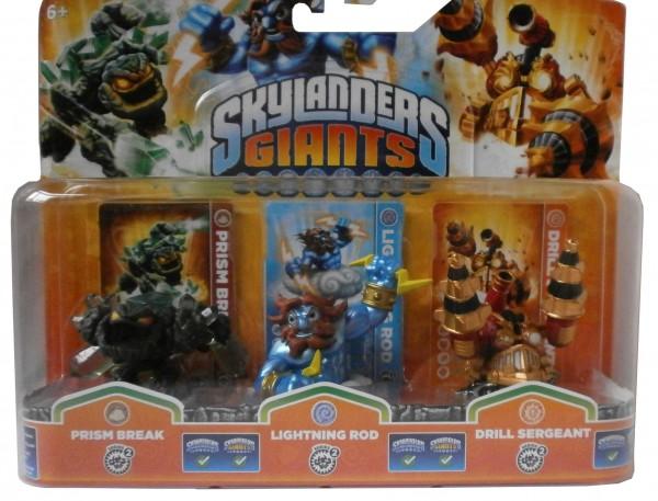 Triple Pack E Skylanders Giants Prism Break 2, Lightning Rod 2 +