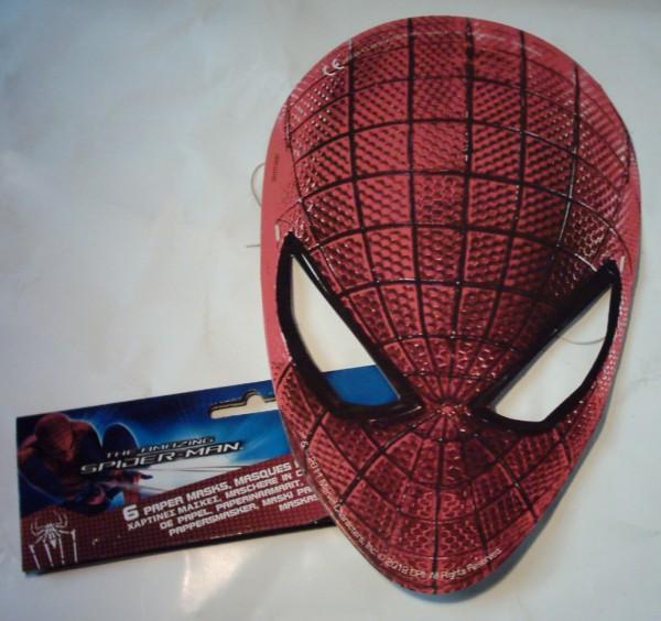 6 Spider-Man Papier-Masken