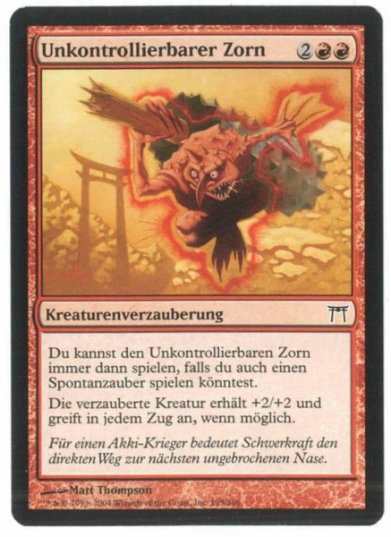 Unkontrollierbarer Zorn, Meister von Kamigawa