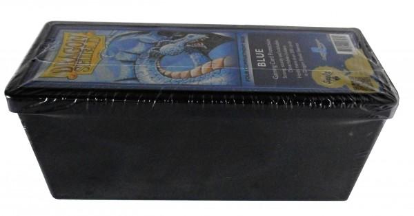 """Four Compartment Card Box / 4-Fächer Kartenbox blau """"Dragon Sh"""