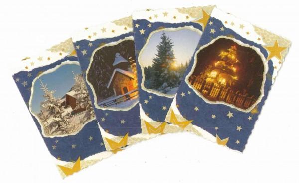 Weihnachts-Geschenk-Anhänger, 4 Stück, Tannenbaum