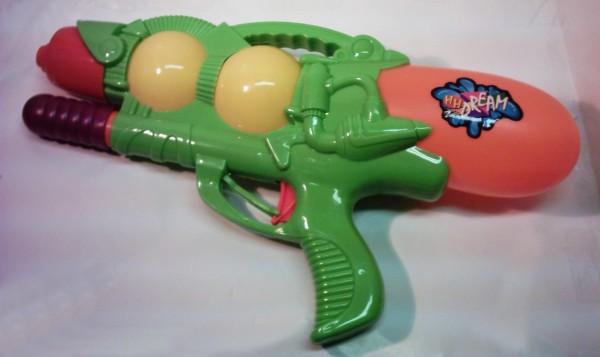 Wasserpistole mit Pump-funktion orange/gelb