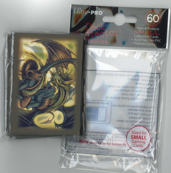 Deck Protector Sleeves Trinity Dragon gold Ultra Pro, small